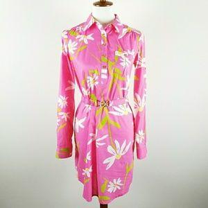 Lily Pulitzer Womens S  Shirt Dress Floral Print